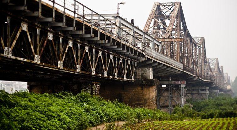 Long Bien Bridge in Hanoi, Vietnam