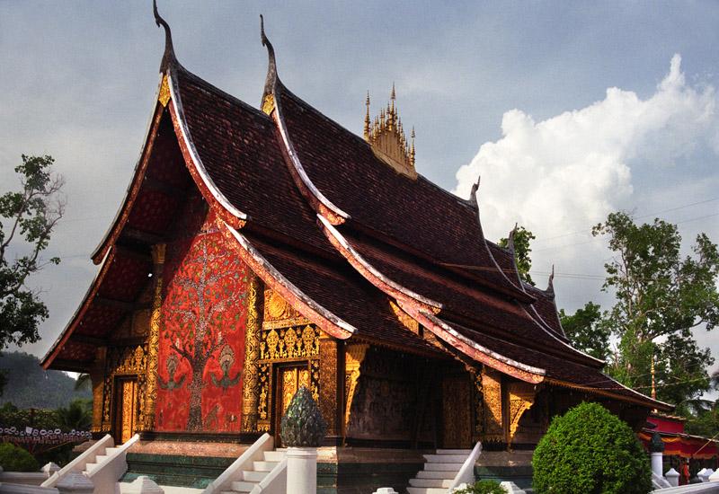 Mosiac depicting the Tree of Life, Wat Xieng Thong, Luang Prabang, Laos
