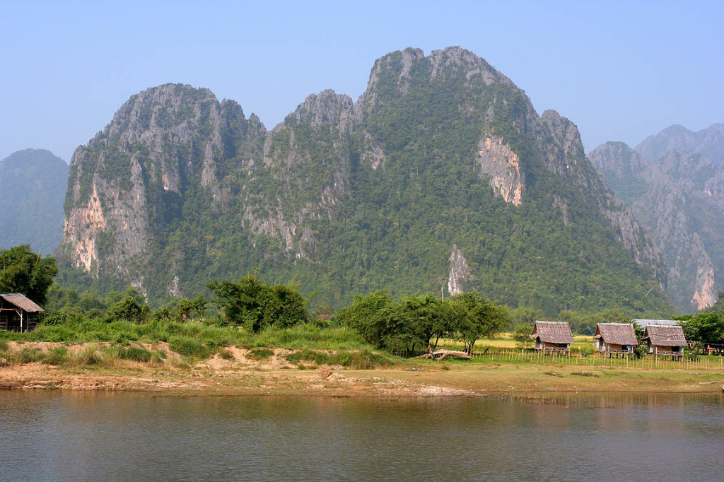 Nam Song River in Vang Vieng, Laos