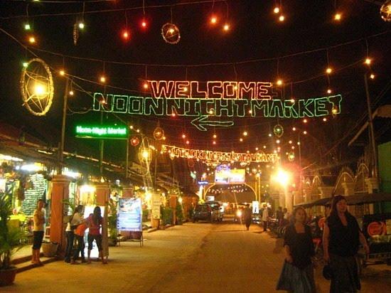 Night market in Siem Reap, Camboida