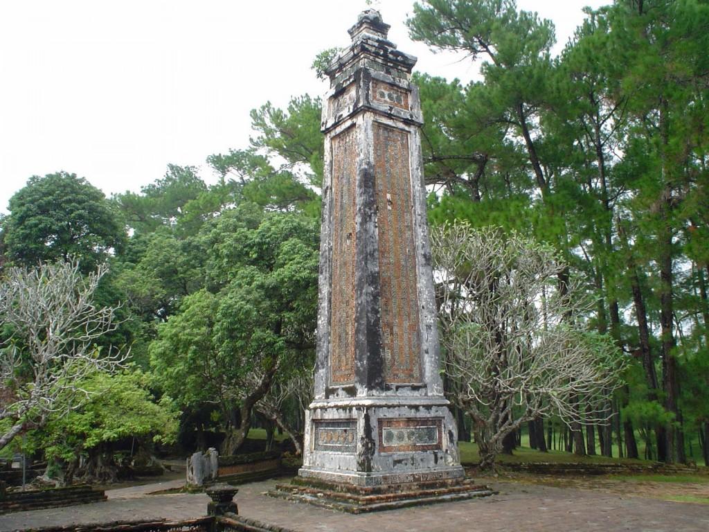 Obelisk in Royal Palace, Hue, Vietnam.