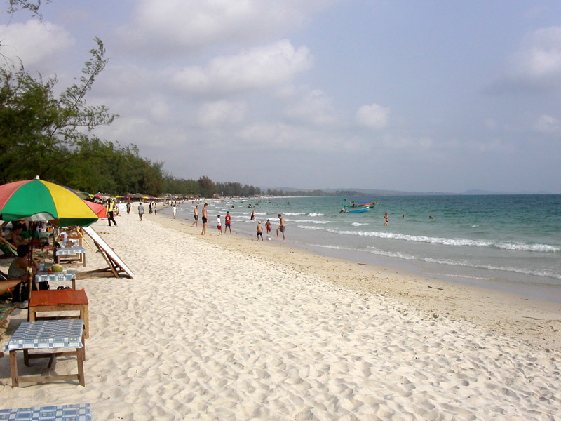 Sihanoukville Cambodia  City new picture : Ochheuteal Beach in Sihanoukville, Cambodia