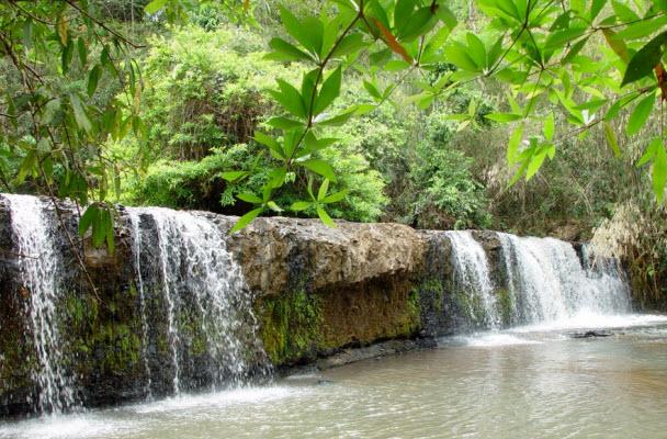 Ou Sean Lair Waterfall in Ratanakiri, Cambodia