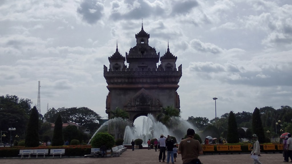 Patuxai, the Lao Victory Monument.