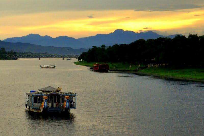 Perfume River in Hue, Vietnam