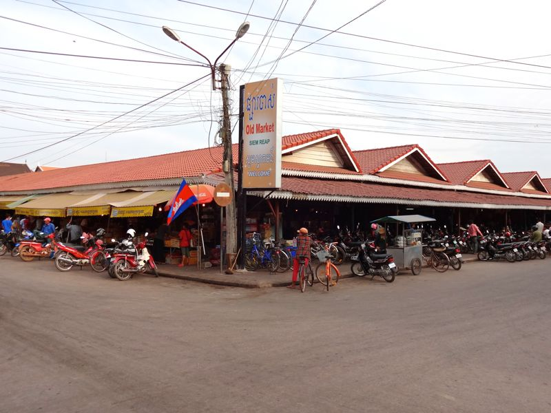 Phsar Chas Old Market in Siem Reap, Cambodia