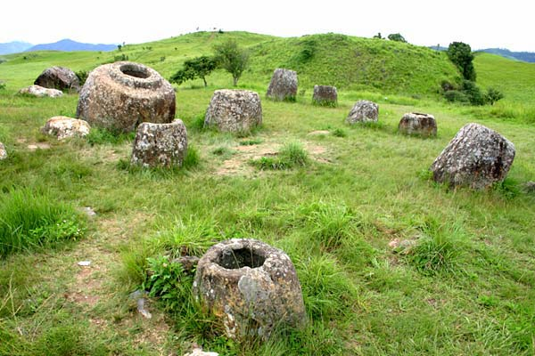 Plain of Jars in Xieng Khouang province, Laos