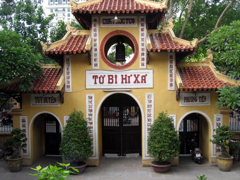 Quan Su pagoda in Hoan Kiem district, Hanoi, Vietnam