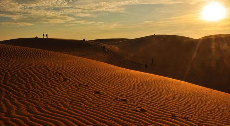Red Sand Dunes in Phan Thiet, Vietnam