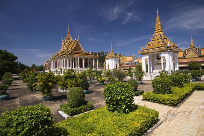 Royal Palace and Silver Pagoda in Phnom Penh, Cambodia