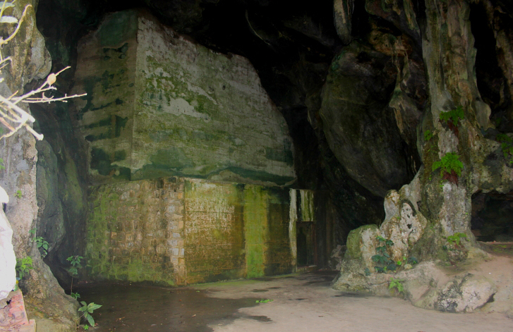 Second entrance to the Hospital Cave on Cat Ba Island, Vietnam