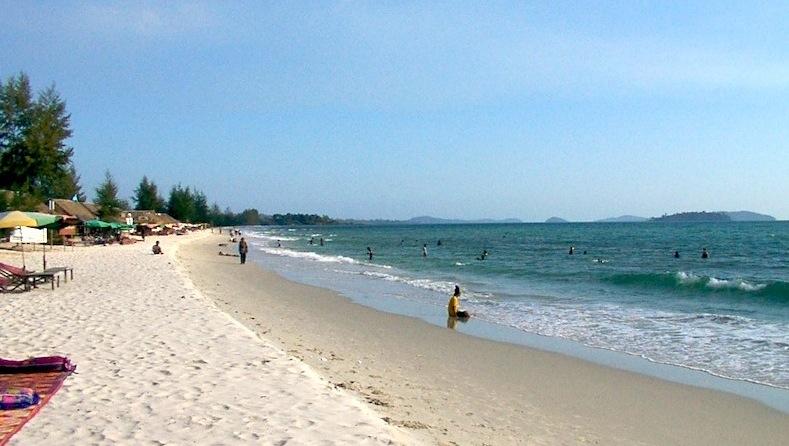 Sihanoukville beach in Cambodia