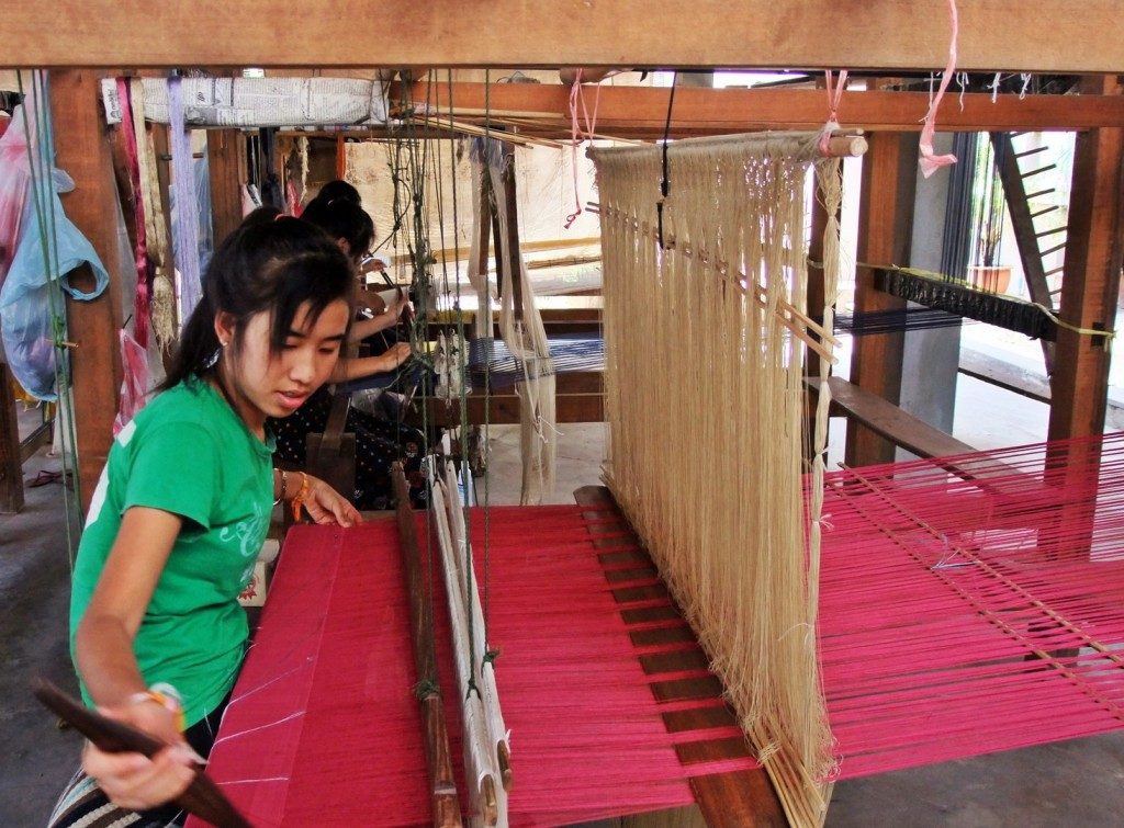 Silk Weaving -in Vientiane, Laos