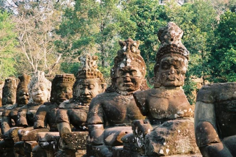 Angkor had been chosen as the Court under the reign of Jayavarman II.