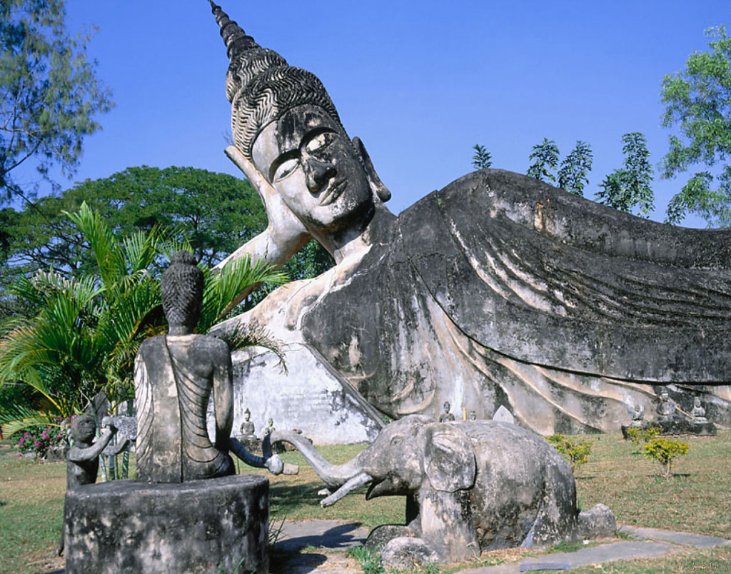 Statue of Buddha in Xieng Khuan also known as  Buddha park in Laos