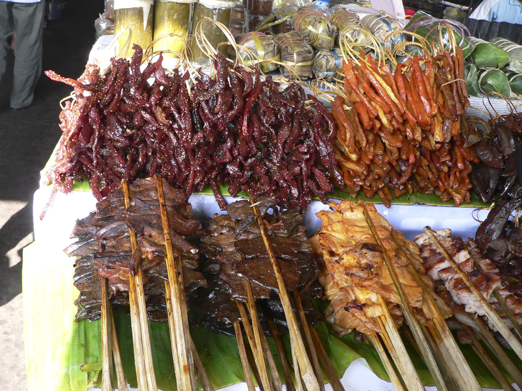 Steet food in Laos