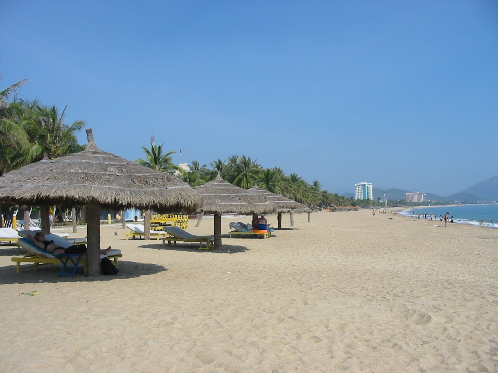 Sunny beach in Nha Trang