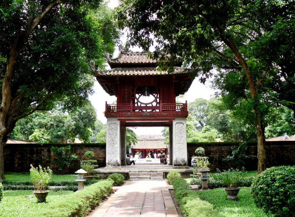 Temple of Literature in Capital Hanoi, Vietnam