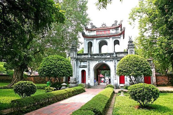 Temple of Literature in Dong Da district, Hanoi, Vietnam.