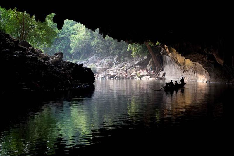 Tham Kong Lor (Kong Lor Cave) in laos