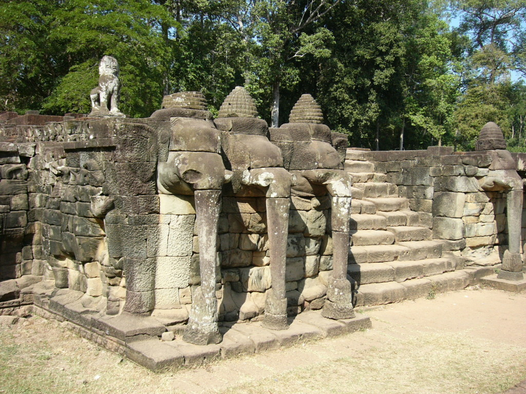 The Elephant Terrace in Siem Reap, Cambodia