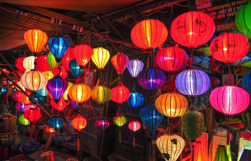 The lanterns being sold in the night market, Hoi An