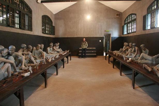 The prison cell of Hoa Lo Prison, Hanoi