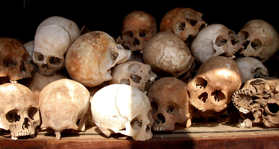 The skulls were arranged by age and sex in Killing Fields