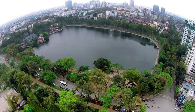 Thien Quang lake in Hai Ba Trung District, Hanoi, Vietnam