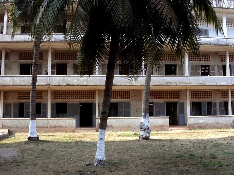 A school that was converted into the Toul Sleng S21 detention center where over 17000 people perished in Phnom Penh, Cambodia