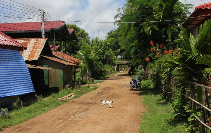Village in Don Khone, Laos.