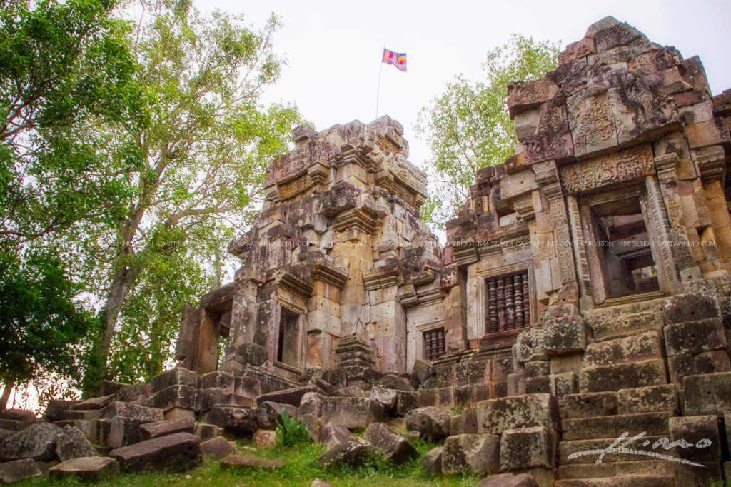 Wat Ek Phnom Temple Ruins at Battambang Cambodia