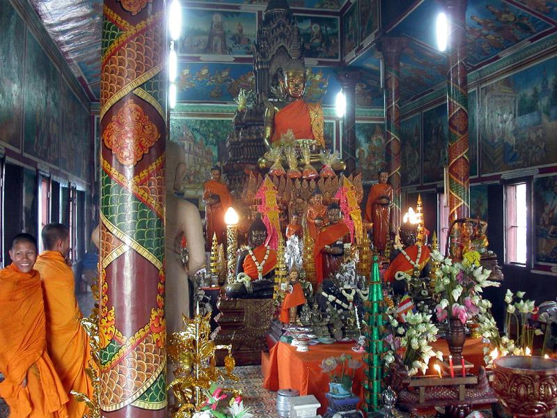 Buddhas in Wat Phnom Phnom Penh, Cambodia