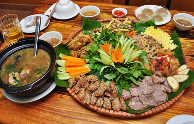 Vietnamese beef served seven ways on tray