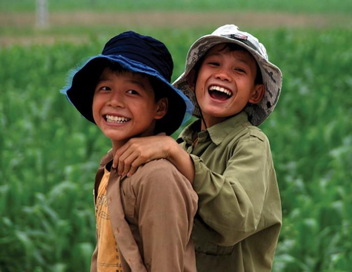 Cambodia Local Boys in Field