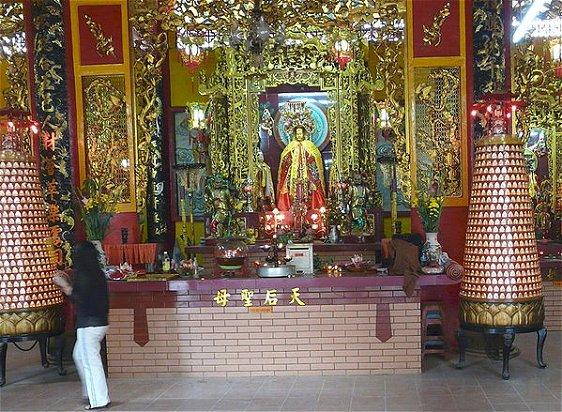 Main altar in Quan Am Temple, Ho CHi MInh city, Vietnam