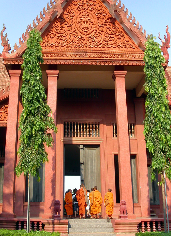 Monks in National Museum in Cambodia