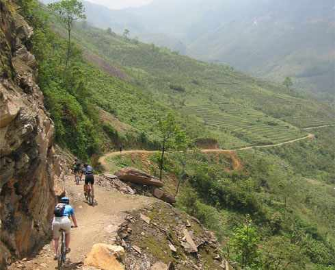 Cycling in Highland of Vietnam