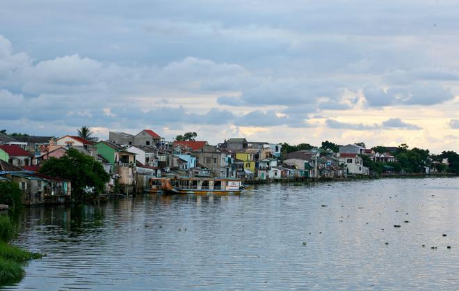 On Huong River in Hue city. Visitors have chance to admire Bao Vinh ancient town with unique architecture the same as Hoi An ancient town in Quang Nam province.