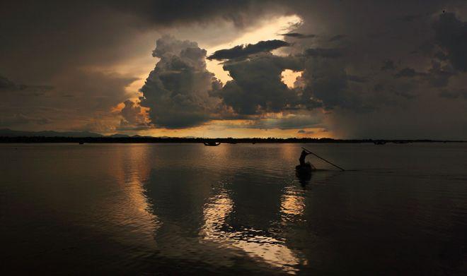 Tam Giang pond after Rainfall.