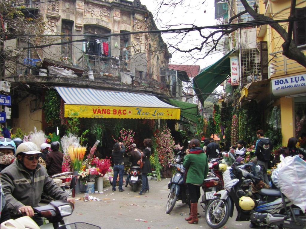 A street corner in Hanoi Old Quater.