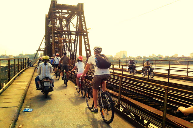Cycling in Hanoi, Vietnam