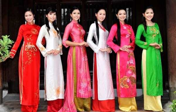 Ao Dai is traditional costume of Vietnamese women.