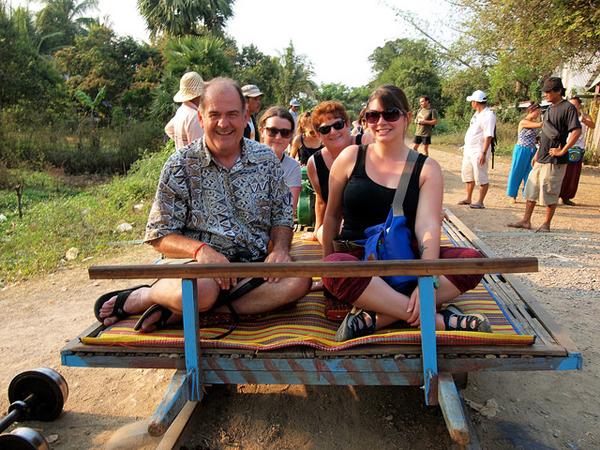Bamboo Train in Battambang, Cambodia