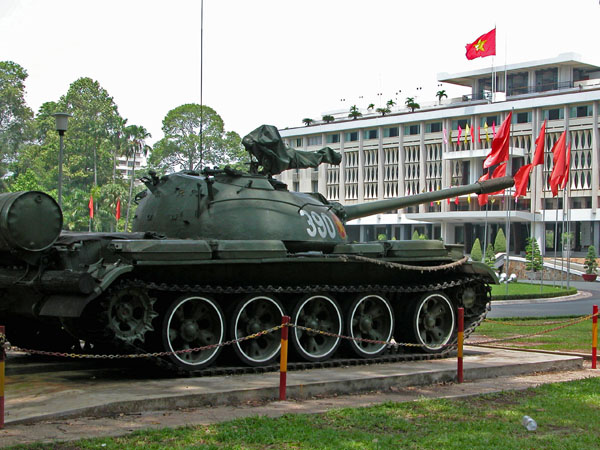 Battle tank in Reunification Palace