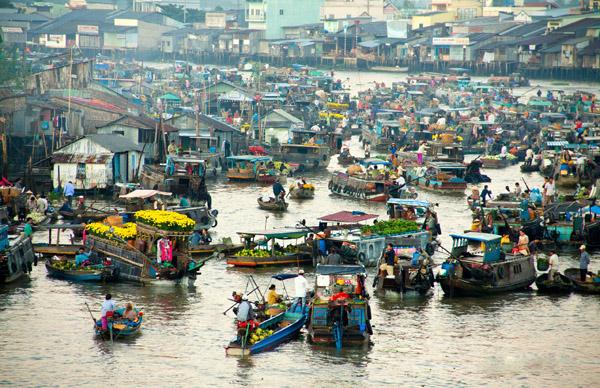 Cai Rang Floating Market,