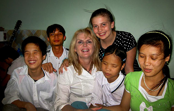 Doing charity works in Vietnam