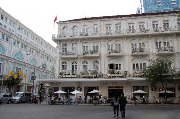 A corner of bustling Dong Khoi Street, Saigon
