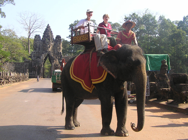 Elephant ride in Siem Reap, Cambodia