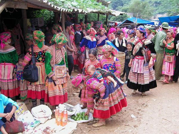 Flower Hmong women, Sapa Vietnam